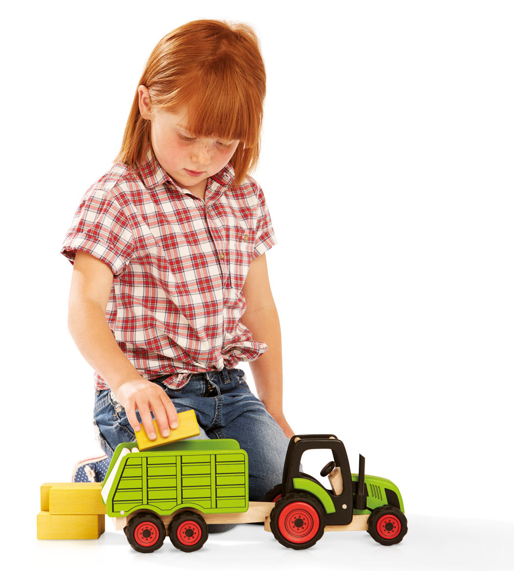 Girl with tractor