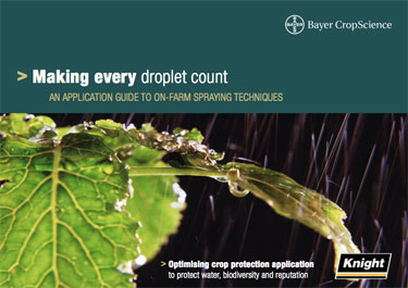 Making every droplet count